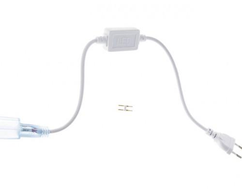 Шнур силовой с вилкой и диодным мостом для гибкого неона (до 50м)