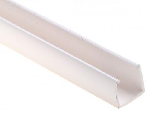 Короб пластиковый для гибкого неона 1м Белый