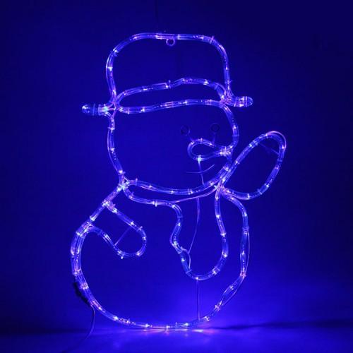 "Светодиодная фигура ""Снеговик"" 63х45см Синий"