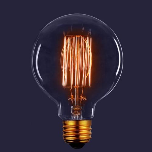 Декоративная лампа накаливания Винтаж Шар 40Вт