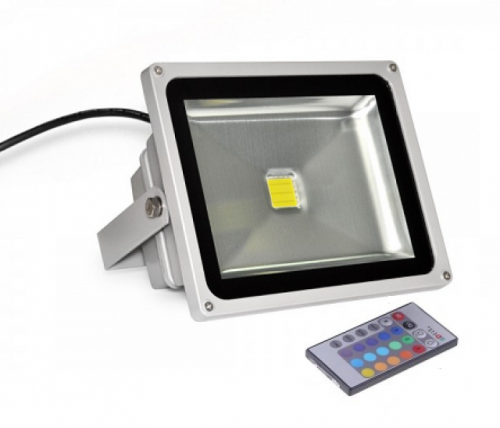 Светодиодный прожектор RGB с пультом управления 30Вт
