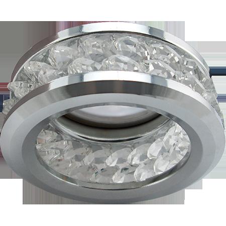 Встраиваемый светильник с хрусталиками (2 ряда) MR16 DL1656