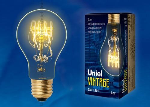 Декоративная лампа накаливания Винтаж А60 60Вт