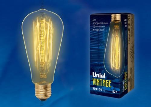 Декоративная лампа накаливания Винтаж ST64 60Вт