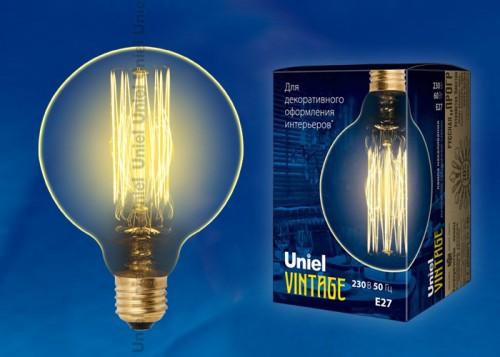Декоративная лампа накаливания Винтаж G80 60Вт