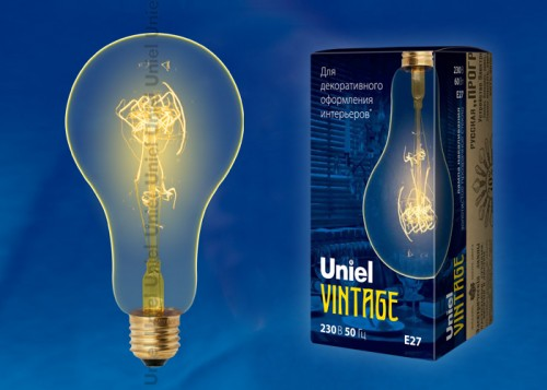 Декоративная лампа накаливания Винтаж А95 60Вт