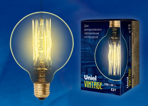 Декоративная лампа накаливания Винтаж G125 60Вт