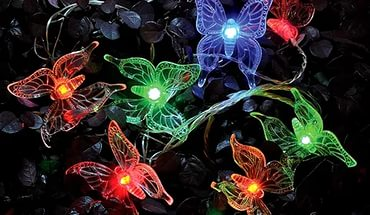Гирлянда на солнечной батарее Бабочки