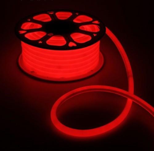 Комплект гибкий светодиодный круглый неон 25м с сетевым шнуром
