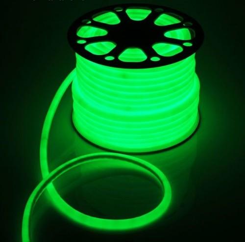 Гибкий светодиодный неон круглый 50м с сетевым шнуром