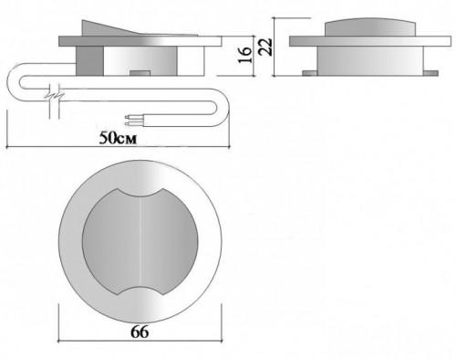 Выключатель врезной мебельный D66