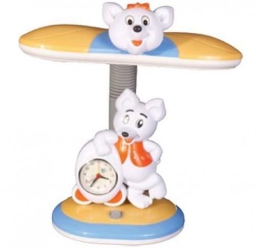 """Настольный светильник """"Мышка"""" с часами"""