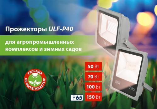 Светодиодный прожектор 100Вт для растений со спектром Фотосинтеза