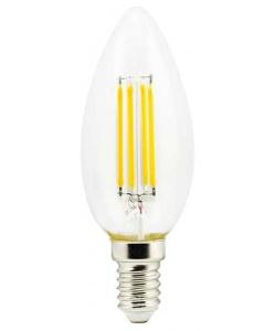 Светодиодная филаментная (нитевидная) лампа свеча Е14 5Вт