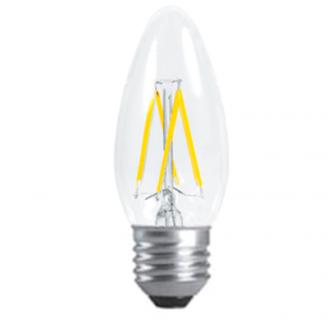 Светодиодная филаментная (нитевидная) лампа свеча Е27 5Вт