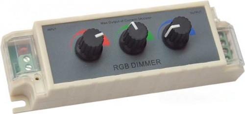Контроллер для регулировки светодиодной ленты RGB с ручками для управления