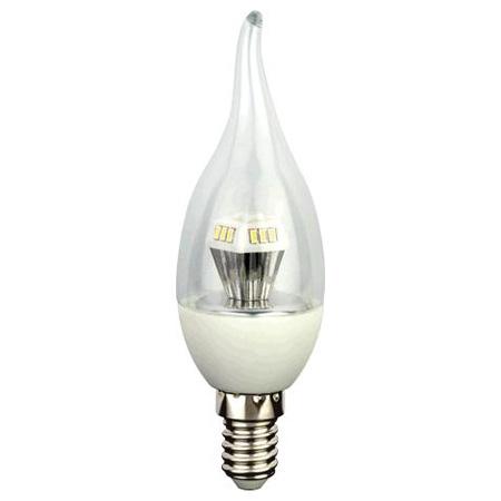 """Светодиодная лампа """"свеча на ветру искристая"""" 4,2Вт Е14"""