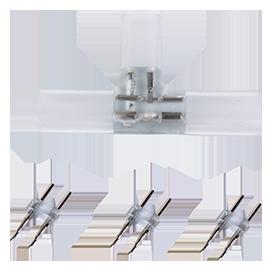 Т-образное соединение для ленты 220V 12х7мм