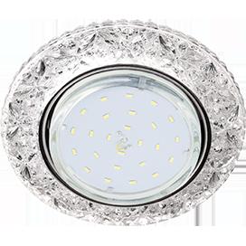 """Потолочный светильник GX53 H4 Круг с подсветкой """"Бабочки"""" LD7040"""
