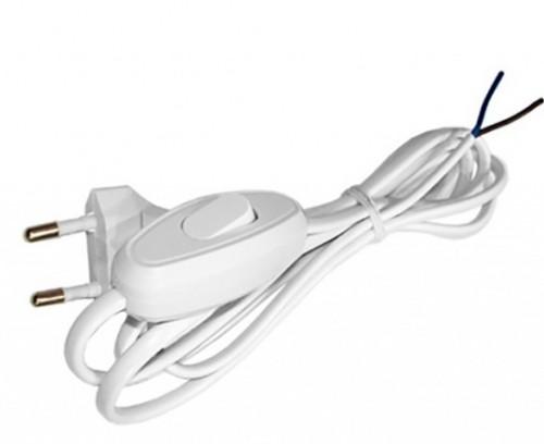 Шнур 1,7м с выключателем и вилкой Белый