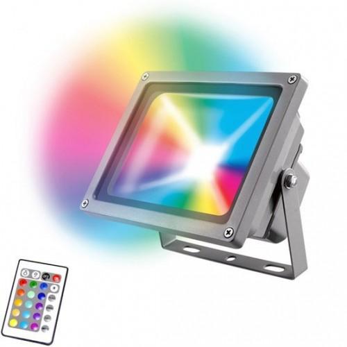 Светодиодный прожектор RGB с пультом управления 20Вт