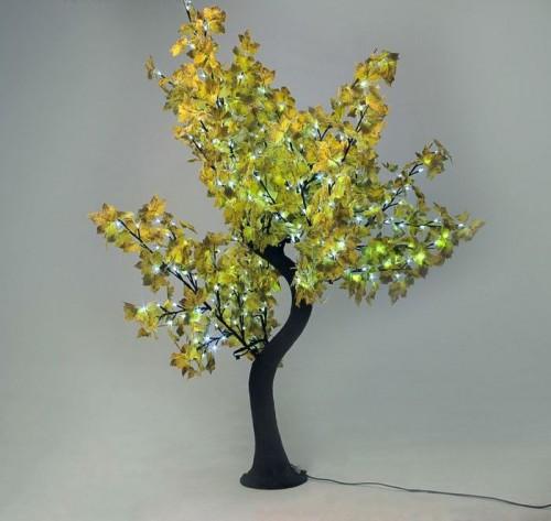 """Светодиодное дерево  """"Клен Осенний"""" 1.8м Желтый"""
