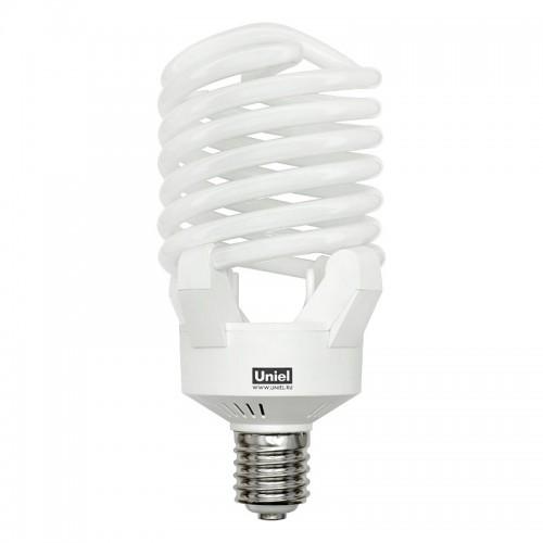 Мощная лампа-спираль Е27 (+переходник на Е40) 100Вт 6400К (холодный белый)