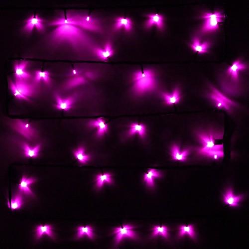 """Влагозащищенная светодиодная гирлянда-нить """"Твинкл"""" 20м с динамикой Розовая"""