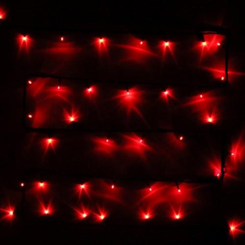 """Влагозащищенная светодиодная гирлянда-нить """"Твинкл"""" 20м с динамикой Красная"""