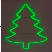 """Светодиодная фигура из неона """"Елка"""" 0,68х0,76 м Зеленая"""