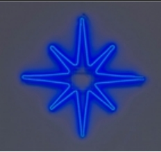 """Светодиодная фигура из неона """"Полярная звезда"""" 75см"""