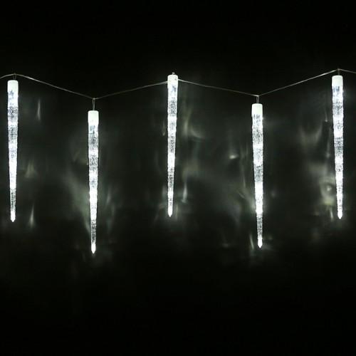 Светодиодная гирлянда Сосульки 8шт по 50см Белый