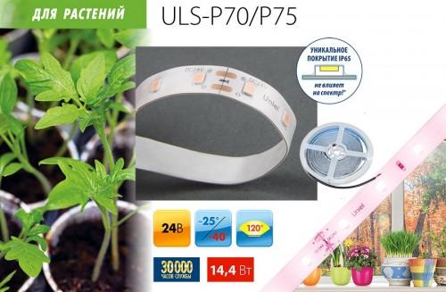 Светодиодная лента для растений (полный спектр свечения для фотосинтеза)