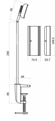Светодиодный светильник на кронштейне 30Вт
