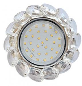 Потолочный декоративный светильник GX53 Круг с большими хрусталиками