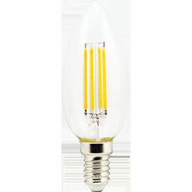 Светодиодная лампа Свеча E14 6Вт Филамент