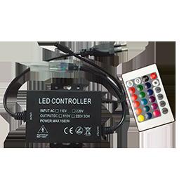 Контроллер для ленты 220V RGB с ИК пультом 1500Вт