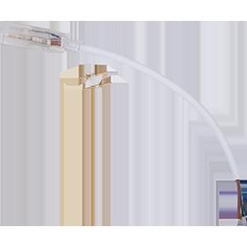Кабель питания с муфтой и разъемом 2-х контактный для ленты 12x7мм 220V