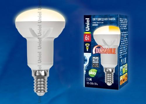Диммируемая светодиодная лампа R50 E14 6W