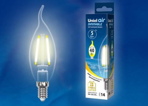 """Диммируемая светодиодная лампа """"Свеча на ветру"""" E14 5W"""