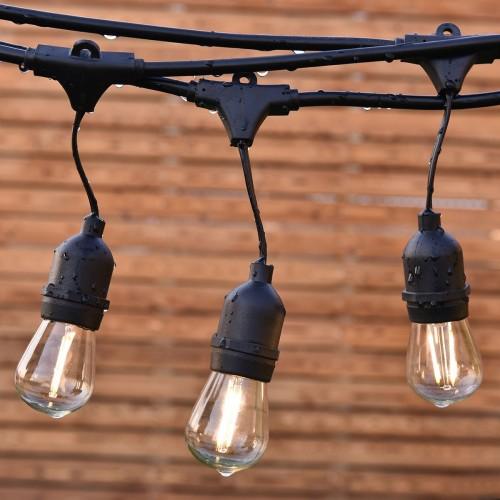 """Влагозащищенная гирлянда Белт-лайт """"Ретро"""" со светодиодными лампами"""
