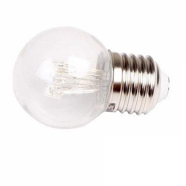 """Светодиодная лампа прозрачная """"Шарик"""" 1Вт Е27"""