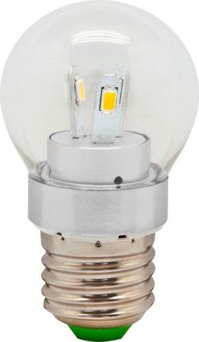 """Светодиодная лампа прозрачная """"Шарик"""" 0,5Вт Е27 Теплый белый"""